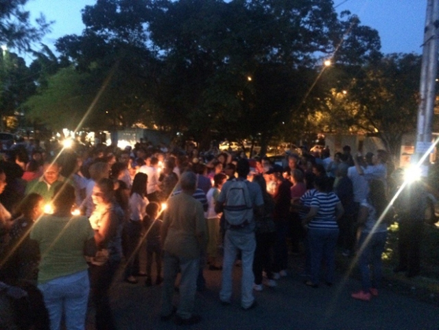 Vigilia por Jofre Rodriguez / Foto: Vanessa Zavala