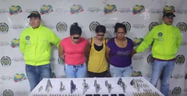 Detienen a dos venezolanas en Colombia por portar armas sin permisología. Foto: Panorama
