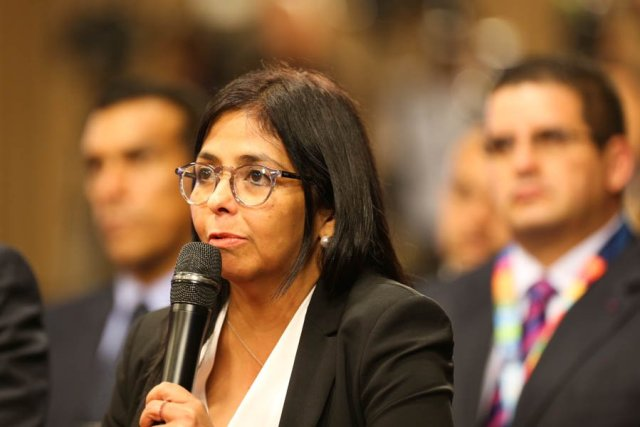 La excanciller de la República, Delcy Rodríguez (Foto: @PresidencialVen)