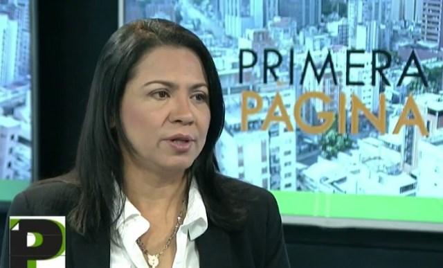 Dennys Fernández, diputada ante la AN / Foto captura tv