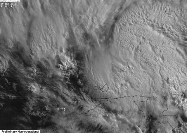 Lluvias moderadas en el estado Sucre / Foto satelital