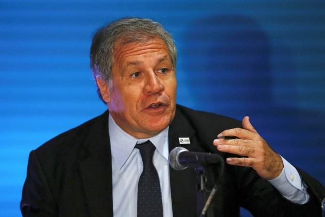 Luis Almagro, secretario general de la OEA, desde la 47° Asamblea General en Cancún, México / Foto REUTERS/Carlos Jasso