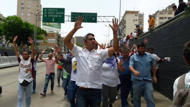 El concejal del municipio Baruta (VP) Luis Somaza