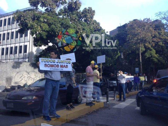Foto: Protesta en La Floresta en Caracas en rechazo a la Constituyente / VPI