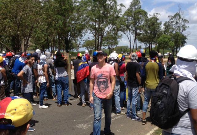Foto: Referencial/ Protesta en Puerto Ordaz / Cortesía