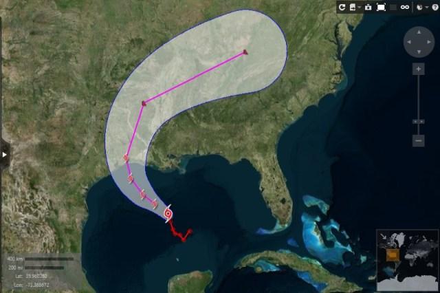 La tormenta tropical Cindy, la tercera en recibir nombre en lo que va de la temporada de huracanes 2017 en el océano Atlántico, se formó en el Golfo de México, dijo el martes el Centro Nacional de Huracanes (CNH) de Estados Unidos. REUTERS/Eikon