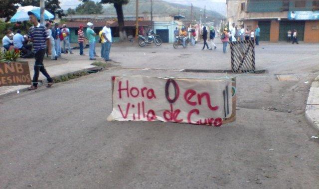 Trancazo en Villa de Cura este #28Jun / Foto @resistenciaVDC