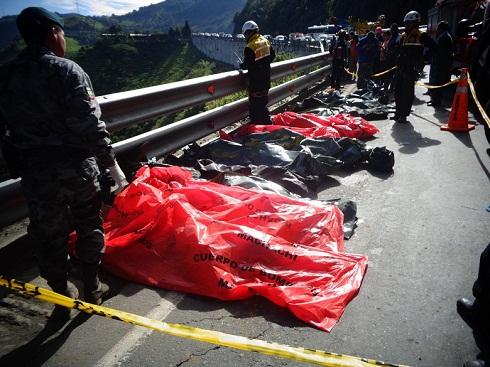 Muertos en un accidente de Bus en Ecuador / Imagen referencial