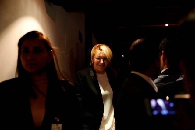 Venezuela's chief prosecutor Luisa Ortega Diaz (C) arrives for a news conference in Caracas, Venezuela July 4, 2017. REUTERS/Carlos Garcia Rawlins