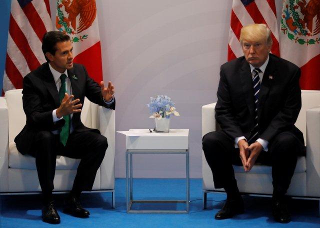 Enrique Peña Nieto, presidente de México, y Donald Trump, presidente de EEUU. REUTERS/Carlos Barria