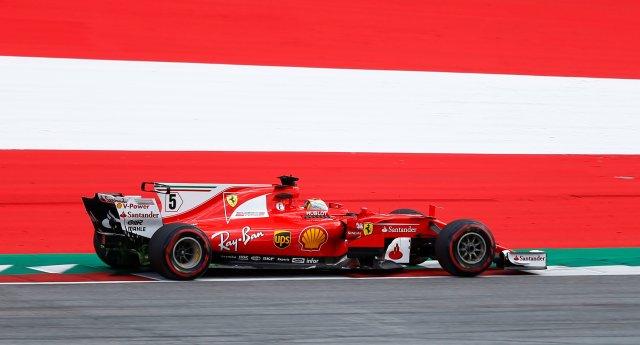 El piloto alemán, Sebastian Vettel (Ferrari). Reuters/Dominic Ebenbichler