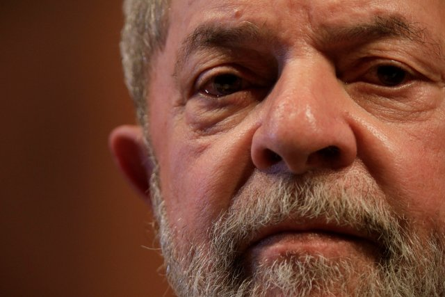 Former Brazilian President Luiz Inacio Lula da Silva looks on during the inauguration of the new National Directory of the Workers' Party, in Brasilia, Brazil July 5, 2017. Picture taken July 5, 2017. REUTERS/Ueslei Marcelino