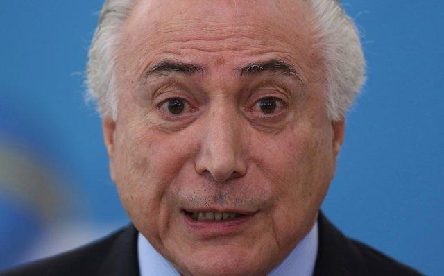 El presidente de Brasil, Michel Temer. REUTERS/Adriano Machado