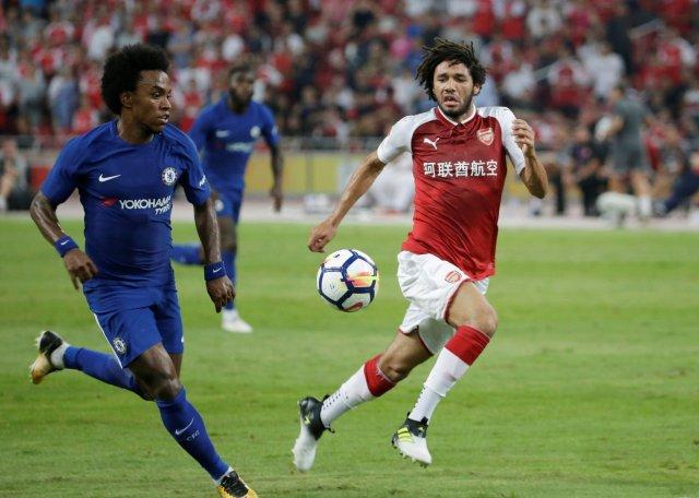 Los equipos ingleses, Chelsea y Arasenal se enfrentaron en un partido de pretemporada. REUTERS/JASON LEE