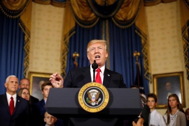 El presidente de Estados Unidos, Donald Trump, en una conferencia en la Casa Blanca en Washington, jul 24, 2017. REUTERS/Joshua Roberts