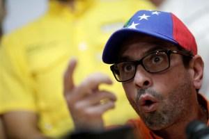 Capriles aboga por la reunificación opositora y un plan mínimo de acción