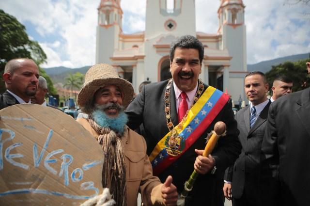 Maduro en el Panteón Nacional / Foto: AVN