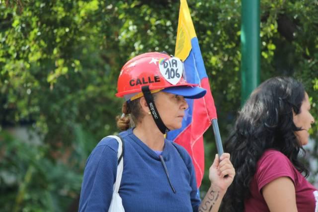 El Movimiento Estudiantil encabeza el cierre de campaña en la plaza Sadel. Foto: Régulo Gómez / LaPatilla.com