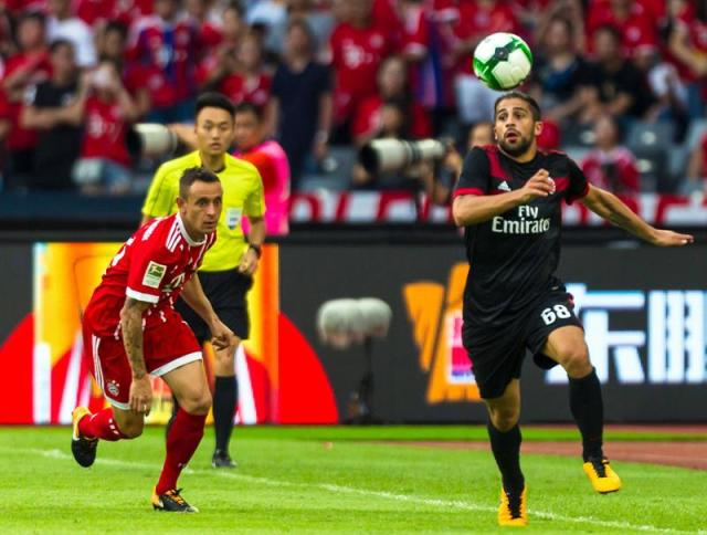El Milan y el Bayern Munich disputaron un partido de pretemporada en China (Foto: EFE)