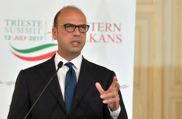 El ministro de Relaciones Exteriores de Italia, Angelino Alfano. Foto: AFP/Archivo