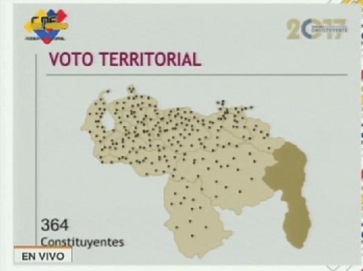 Foto: Voto territorial para la elección de la Asamblea Nacional Constituyente / VTV