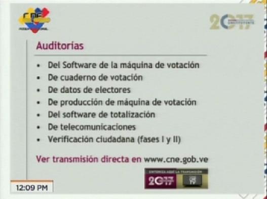 Foto: Las auditorias para la elección de la Asamblea Nacional Constituyente / VTV