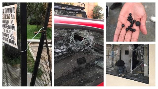 Los destrozos causados por cuerpos de seguridad durante allanamientos violentos en Naguanagua