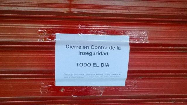 Foto:  La protesta de los comerciantes de San Juan de Los Morros en Guárico /