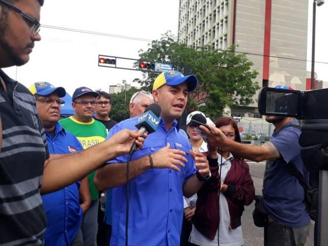 El presidente de la cámara municipal de Maracaibo, Leonardo Fernández