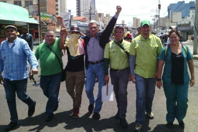 Joaquin Chaparro,  Braulio Arias y Oswaldo Hernández, dirigentes de Copei