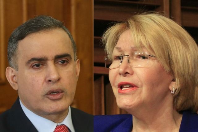 Foto: Tareck William Saab y Luisa Ortega Diaz