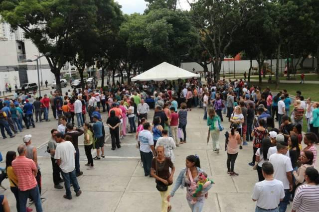 Punto soberano en Parque Carabobo / Foto: Will Jiménez
