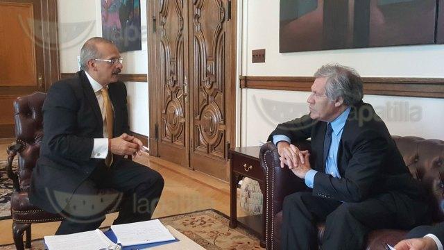 Magistrado Alejandro Rebolledo se reúne con secretario General de la OEA, Luis Almagro