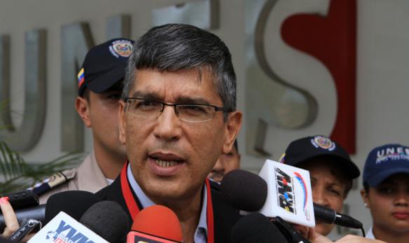 El exrector de la UNES, Ronald Blanco La Cruz. Foto: AVN