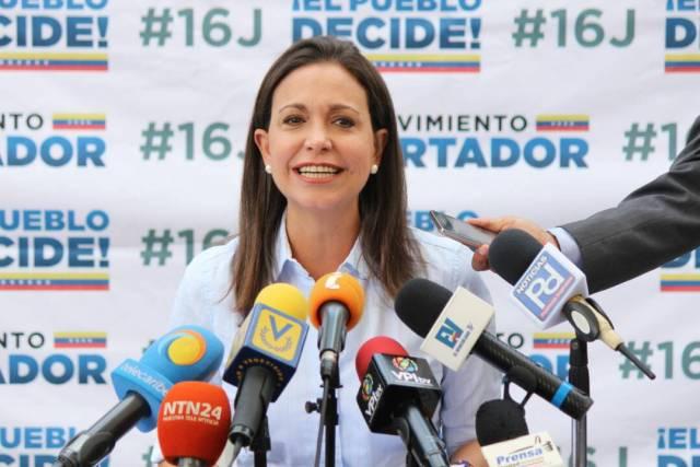 La coordinadora nacional de Vente Venezuela, María Corina Machado (Foto: Régulo Gómez / LaPatilla)