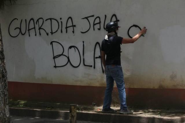 Represión en Montalbán / Foto: Wil Jiménez