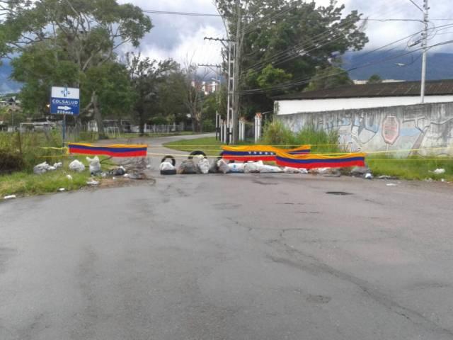Barricadas en Táchira // Foto Cortesía