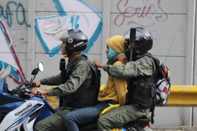 Detenidos en Bello Campo este #27Jul tras represión de la GNB / Foto: Régulo Gómez