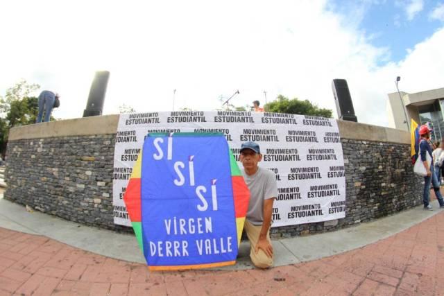 """El mensaje del """"Señor del Papagayo"""" en el cierre de campaña. Foto: Régulo Gómez / LaPatilla.com"""