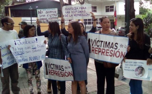Representantes del Comité de Víctimas de la Represión // Foto @unidadvenezuela