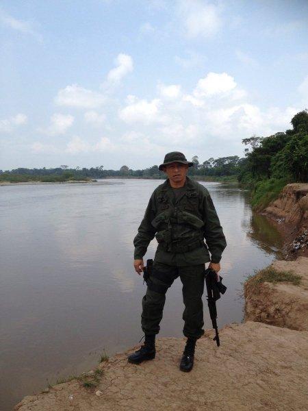 El teniente coronel del Ejército, Durbis Melán (Foto: @isnardobravo)