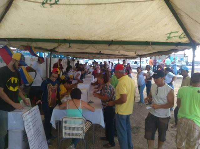 Foto: En Falcón votaron en rechazo a la constituyente en la consulta popular / Cortesía