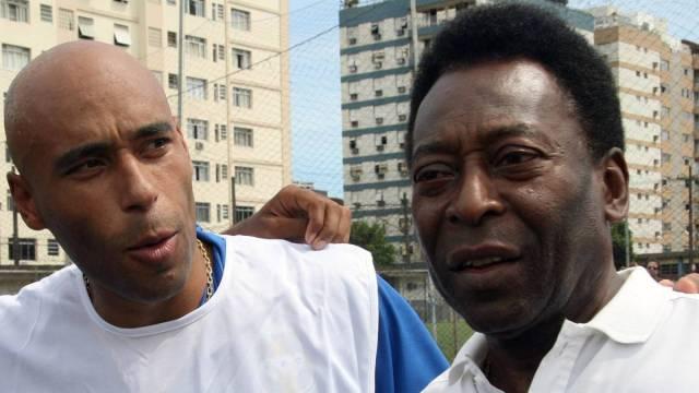 Pelé junto a su hijo mayor, Edinho (Foto: as.com)