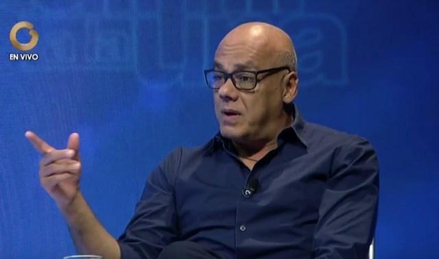 Jorge Rodríguez, alcalde de Caracas / Foto captura tv