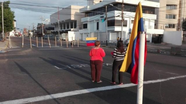 Maracaibo desolada y trancada // Foto @LDanieri