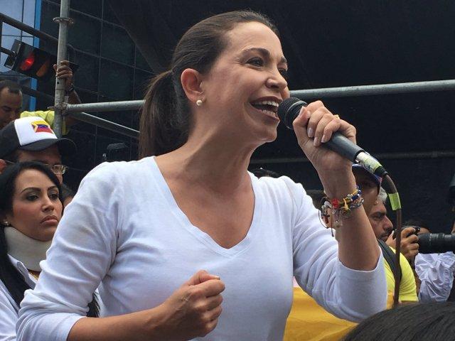 María Corina Machado en Chacaíto este #9Jul // Foto @andreina