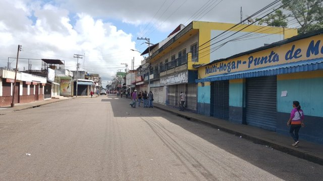 Punta de Mata, estado Monagas, se suma el paro cívico nacional // Foto @PieroMaroun