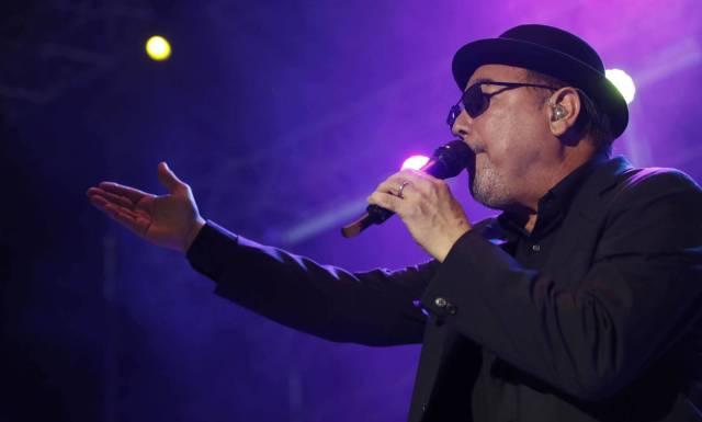 El cantante Rubén Blades, durante su actuación anoche en Madrid. JUANJO MARTÍN EFE