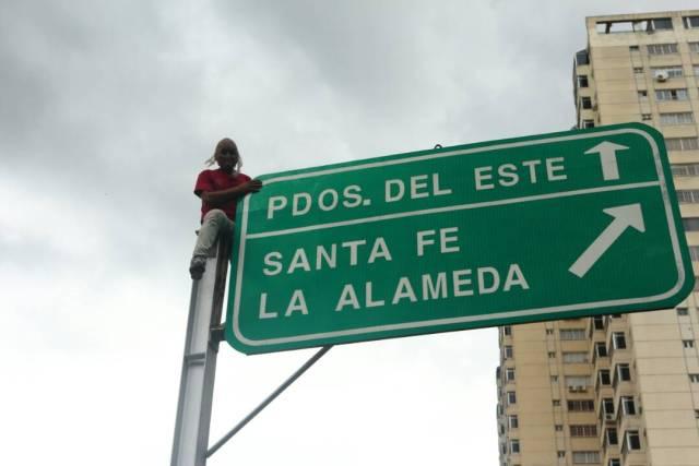 Trancazo en Santa Fe / Foto: Wil Jiménez