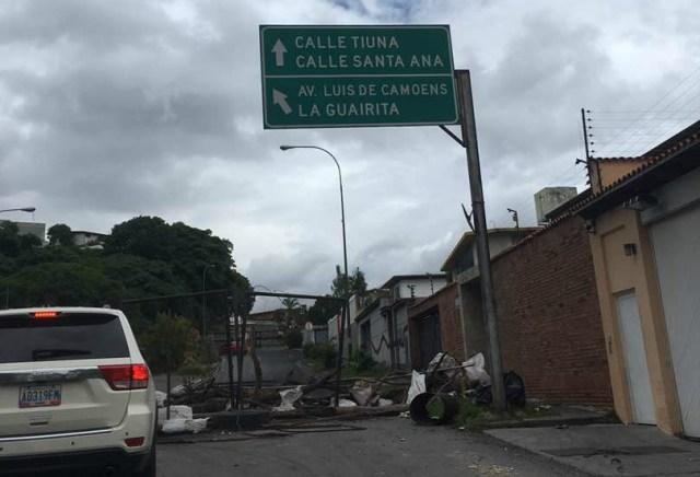 Foto: Inició el trancazo en Maracacuay / Cortesía